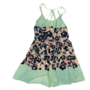 Intimately Free People Blue Green Floral Dress-L